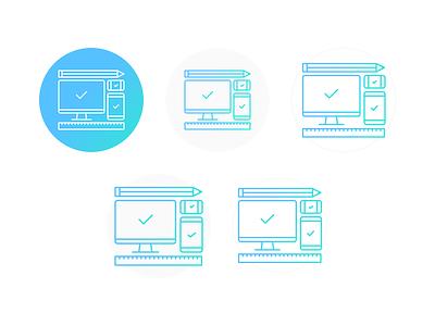 In Iteration We Trust responsive ui ux designer argentina color flat iteration illustration design graphic icons