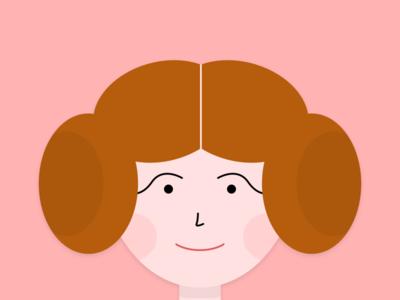 Leia character woman pink color illustrator photoshop sketch illustration wars star leia princess