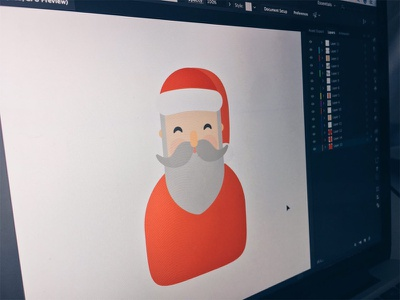 Santa Claus is coming to town! illustrator holidays gift snow year new noel papa navidad claus santa christmas