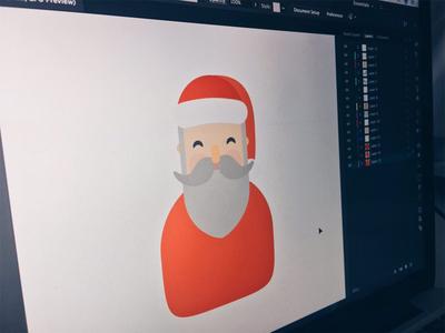 Santa Claus is coming to town! illustrator holidays gift snow year new noel papa navidad claus santa christmas