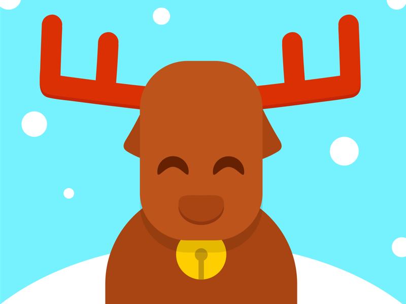 Christmas Deer reno rudolf noel papa navidad animal winter snow claus santa deer christmas
