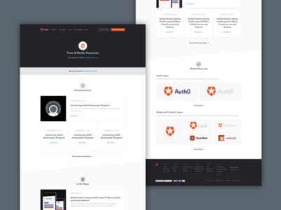 Auth0 Press & Media Resources illustration design web authentication security page resources media press auth0