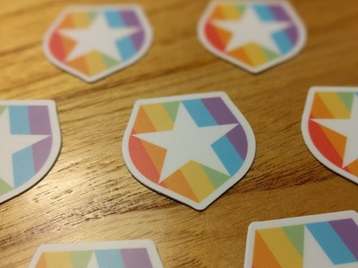 Pride Stickers illustrator vector color authentication lgbt star shield auth0 pride stickers