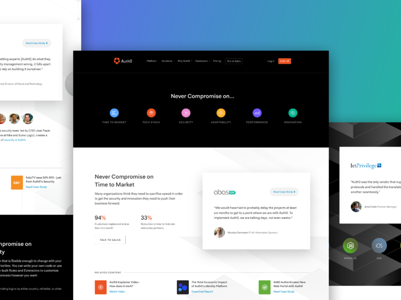 Auth0 Overview flat sketch ux identity security authentication auth0 ui website responsive argentina design