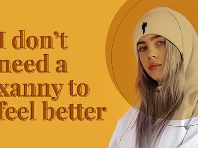 Billie + Jorja lyrics quotes jorja smith billie eilish music argentina ui graphic design