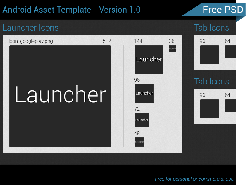 Android Template Version 1 template ui icon psd preview android photoshop free