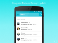 Material Design Update 1.0