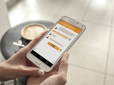 Conversations ux ui texting ost lollipop 5.0 google design material message messaging android