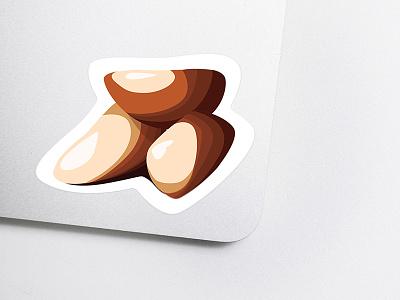 Got Nuts? brazil sticker stickermule