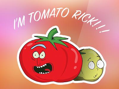 I'M TOMATO RICK!!!!!!!!!!!!!!!!!!!! sticker stickermule