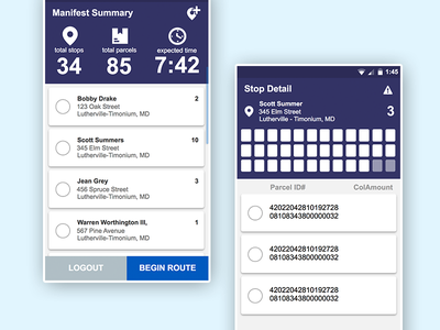 Delivery Concepts delivery ux ui concept android