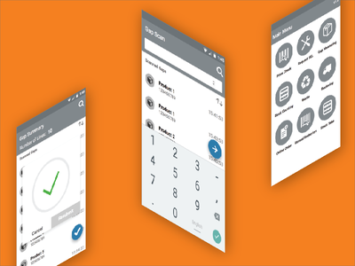 Retail Gap Scanning Concept retail ux ui concept android