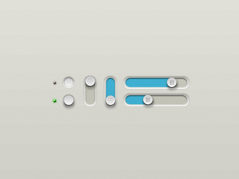 Buttons and Sliders (with PSD) swag ui button minimal clean psd