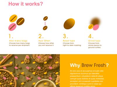 Fresh Brew UI Design: Landing Page 02 illustration dailyuiux typography ux web app graphic design website dailyui 002 dailyui branding
