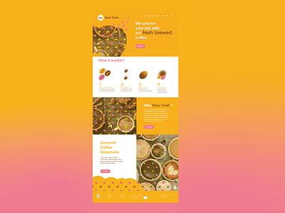 Brew Fresh UI Design: Landing Page Overview dailyuiux typography ux web app dailyui 002 logo website dailyui graphic design branding