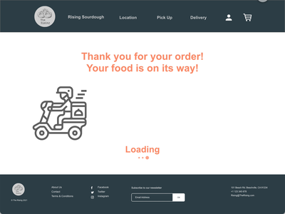 Daily UI Project: Delivery Loading Page dailyuichallenge microinteraction illustration website ux app graphic design branding dailyui