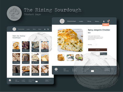 Daily UI UX Project: The Rising Product Page logo dailyuichallenge illustration app website web ux dailyui graphic design branding