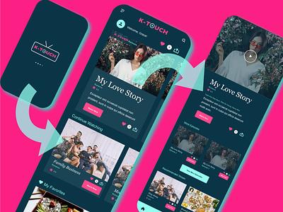 Daily UI TV APP: Landing Page and more responsive design interaction design ui dailyuiux dailyuichallenge app web ux dailyui graphic design branding