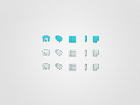 Active Hover Inactive Icons