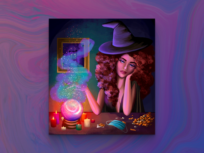 Halloween in the Time of Covid magic spooky witch halloween digital illustration procreate art procreate concept art painting digital painting digital art drawing digital illustration