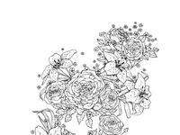 Floral half sleeve large