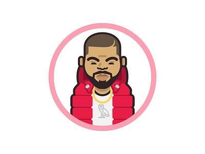 Rappers Delight  02 hotline bling drake hip hop music illustration icon rap