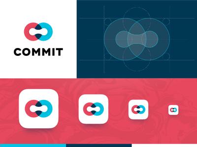 Commit Icon app icon branding logo commit habbit app