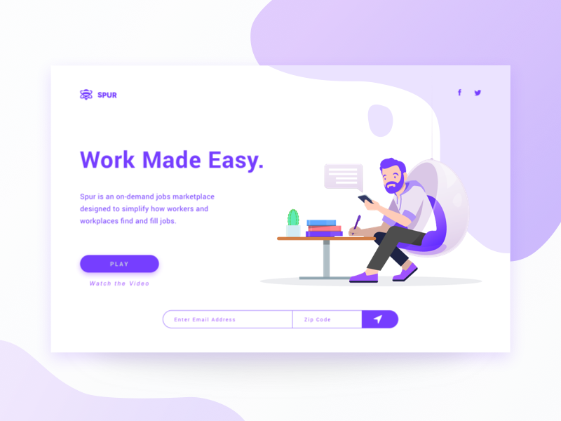 Landing Page ux ui layout brand illustration website landing page