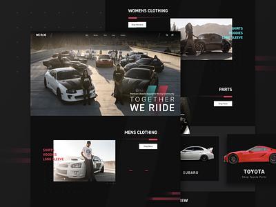 We Riide Homepage speed ride race logo imports identity branding brand racing website homepage