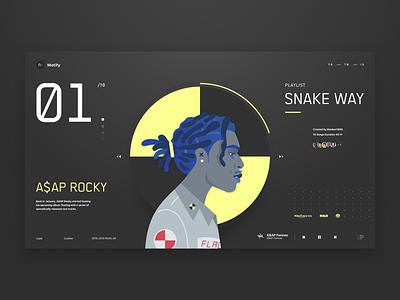 01 A$AP rapper playlist music player illustration hip hop music a$ap rocky