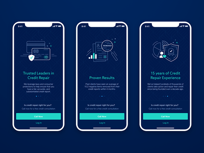 Onboarding credit repair illustration ux ui credit mobile app