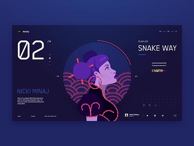 01 Nicki rapper playlist music player illustration hip hop music nicki minaj