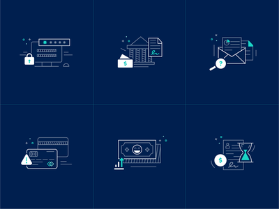 Finance Icons illustration ui money credit finance icons set icons
