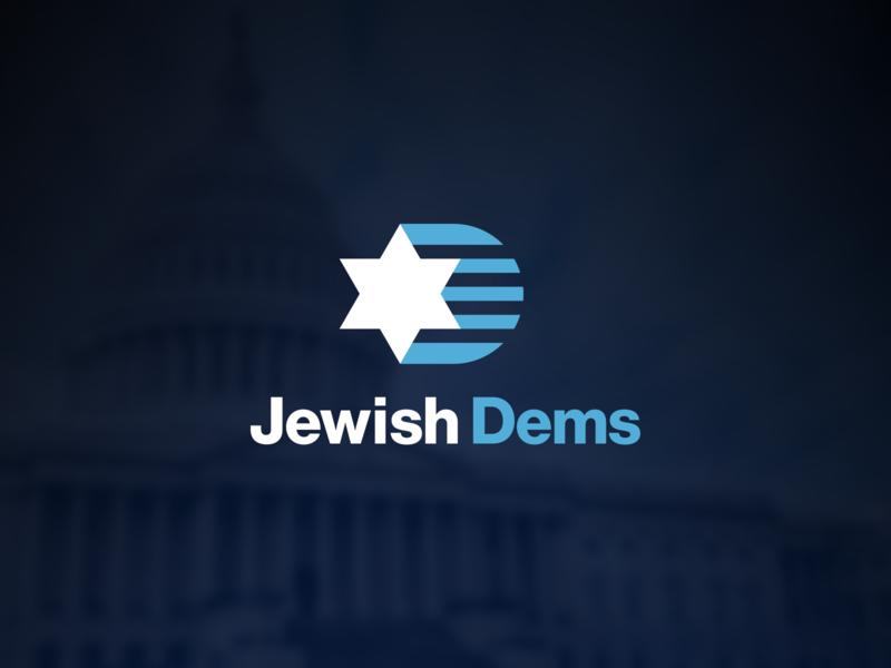 Jewish Dems Logo political american america star of david awareness non-profit organization jewish politics democratic democrat logo