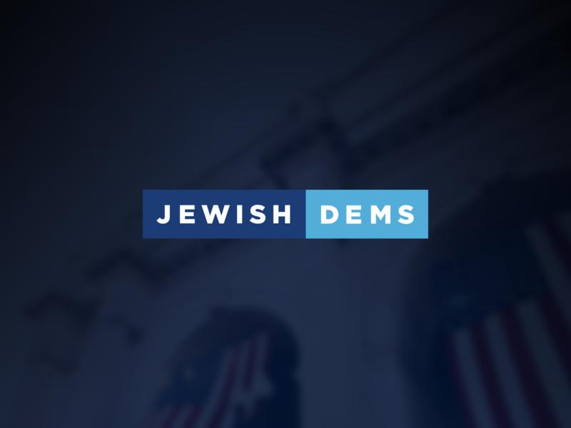Jewish Dems organization jewish merchandise logo political logo democratic democrat politics political non-profit american america