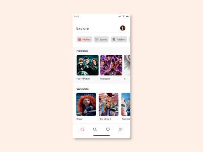 TV App designer ui dailyui 25 tv app app