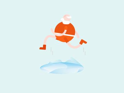 Santa meets Portal christmas santa illustration game portal