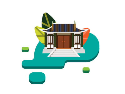 Tea Museum museum tea icon art vector illustrator flat illustration