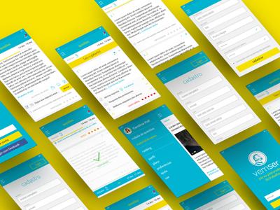 UI for a concourse study platform 2 interface app mobile product design visual design ux design ui design user interface design ux concept ui