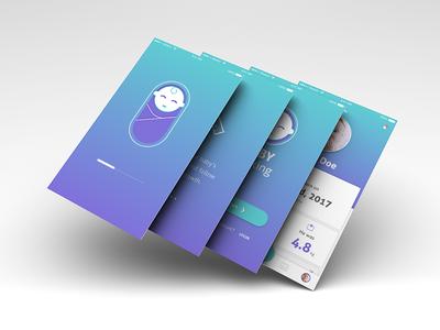 Baby Tracking App   Part 1 tracking baby product design visual design ux design timeline ui design user interface design ux concept ui