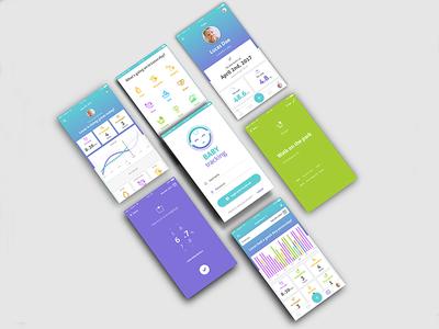 Baby Tracking App   Part 2 tracking baby product design visual design ux design timeline ui design user interface design ux concept ui