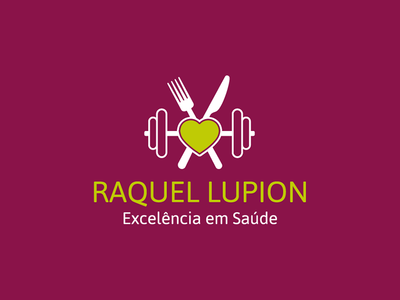 Nutritionist Logo dumbell heart fork nutritionist printing visual identity stationary logo branding brand