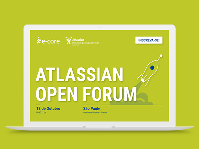 e-Core   Atlassian Open Forum Rebrand brand atlassian event landing page digital design layout site ui design responsive design ui website