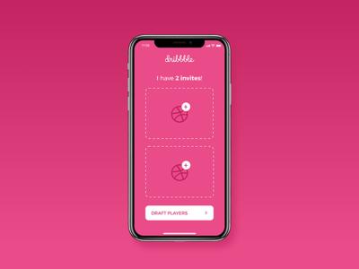 2 Dribbble Invites designer draft invitation mobile iphone x shots invites dribbble