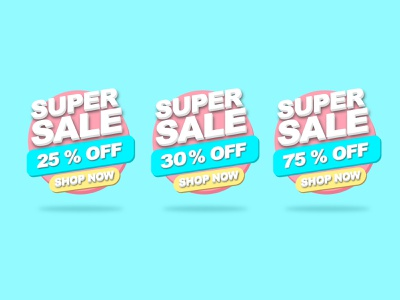 Promotion Template Sale, Abstract 3d Super Discount Sale Banner flyer label advertising super tag price illustration poster design vector template promotion background special 3d sale discount abstract offer banner