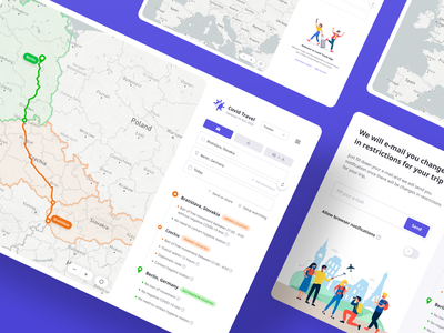 Traveling with COVID-19 restrictions made simple covid 19 travel app webdesign redesign ui design ux strategy ux design front-end development concept covid traveling website app web ux ui design