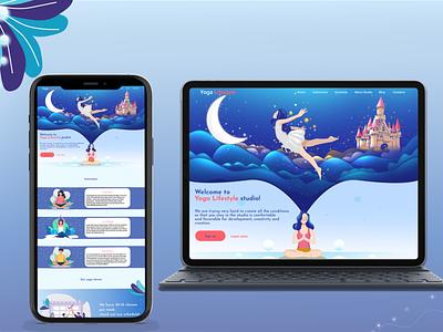Web design Yoga Studio website designer web designer landing page design design landing page web design