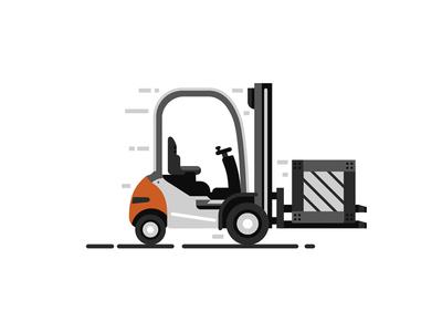 Forklift (STILL) 2d flat transport still move forklift emission drive box