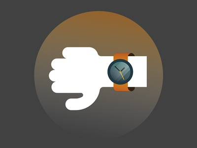 Be In Time! arm hand on the dot punctual accurate time in time watch clock