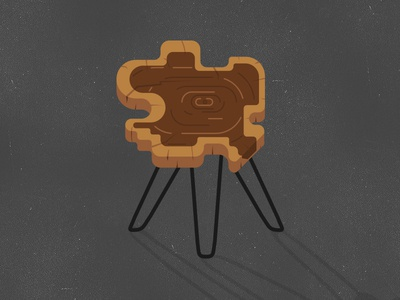 Wood Disc Table hairpin legs slice pane table disc wood